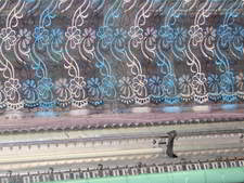 schiffli embroidery design on machine