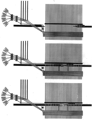 Working principle of a rapier weaving