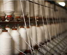yarn spindles on spinning machine