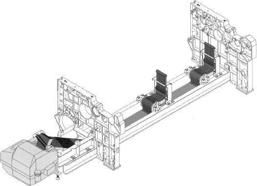 Skeleton of a weaving machine